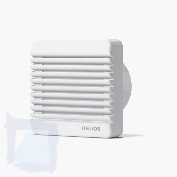 Helios Minilüfter HR90KEZ mit Kugellager elektrischer Verschlußklappe und Nachlaufschalter
