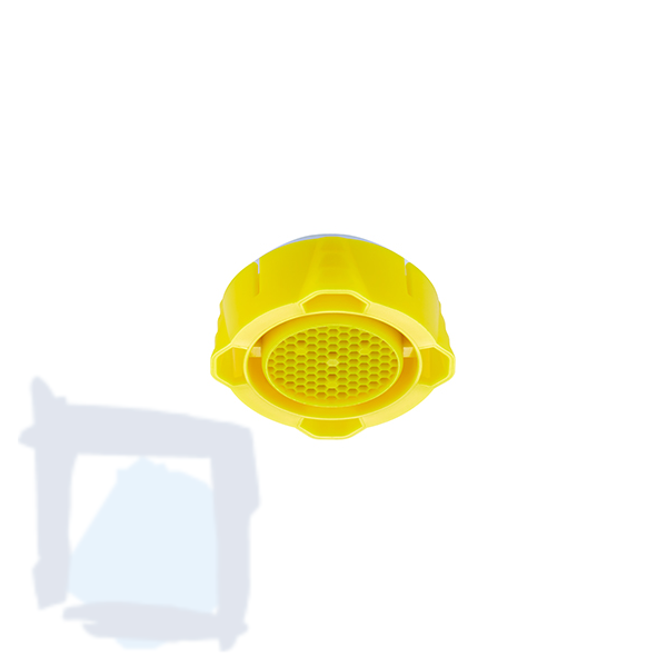 Neoperl Clinic Snap Honeycomb Strahlregler gelb
