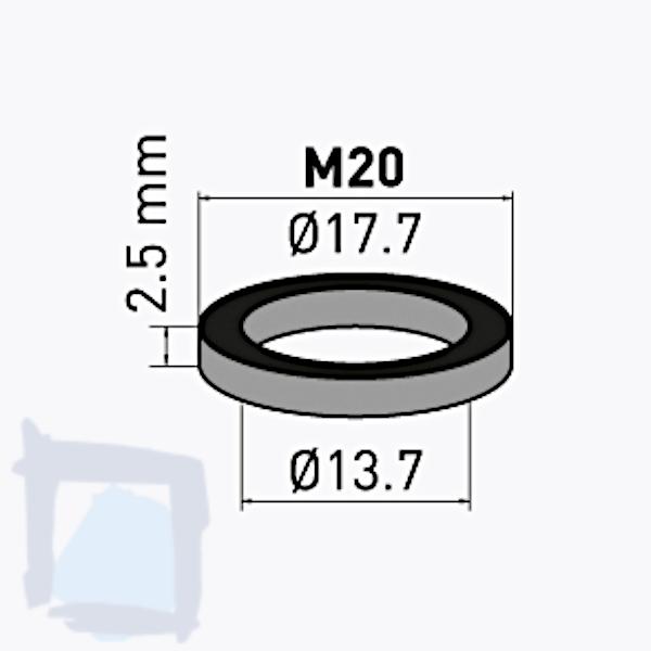 Gummidichtung M20x1