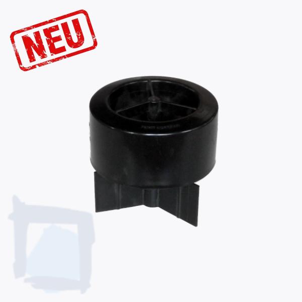 Abschlusszarge schwarz BIMAG-80 F, flach, rund