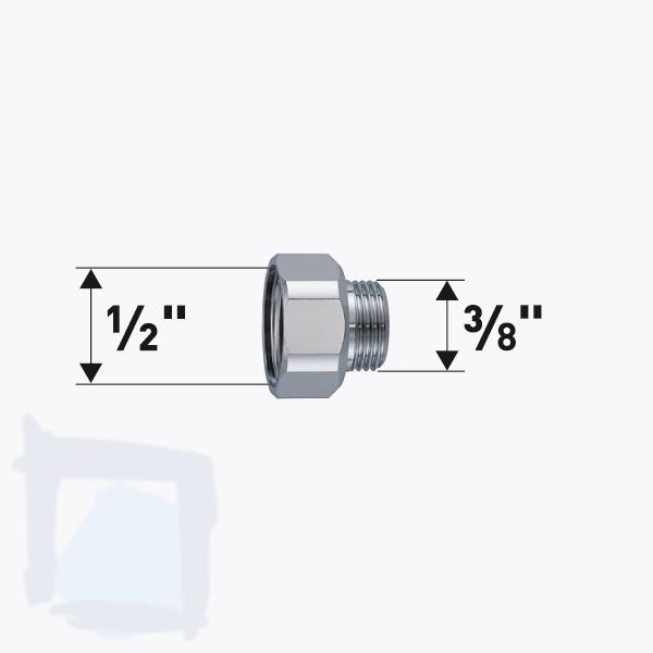 """Reduktion IG ½"""" x AG ⅜"""""""