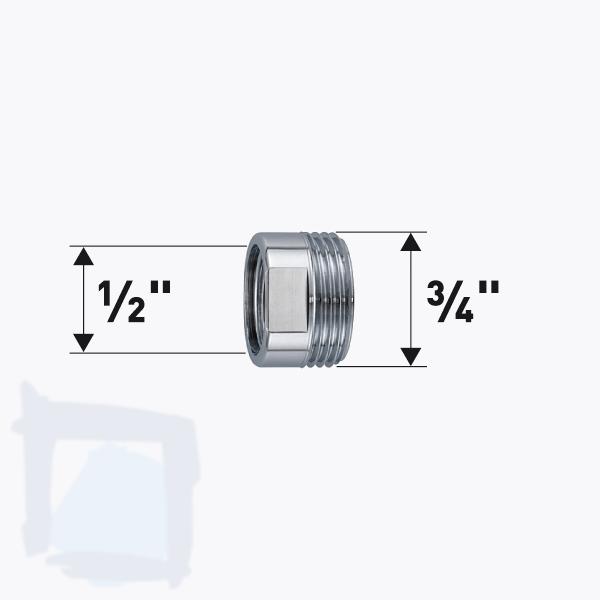 "Reduktion ½"" x ¾"""