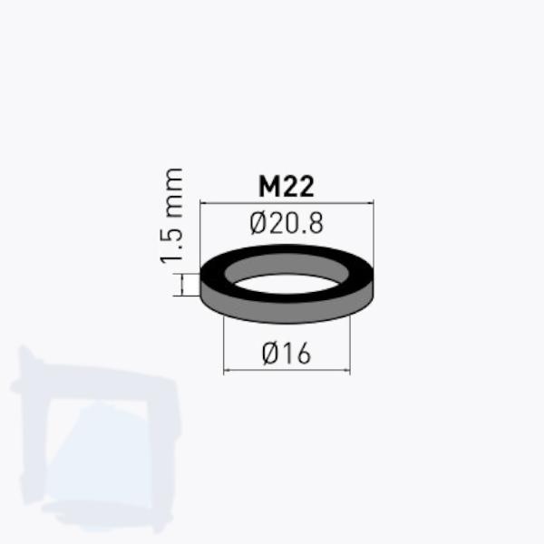 NEOPERL® Gummidichtung zu Innenteil M22